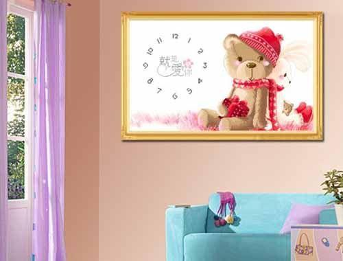十字绣装饰 儿童房装修效果图-可用来装饰儿童房的十字绣图案大全