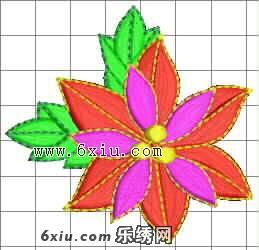 圣诞花 简单 小花 刺绣图案 网友上传区 共享花