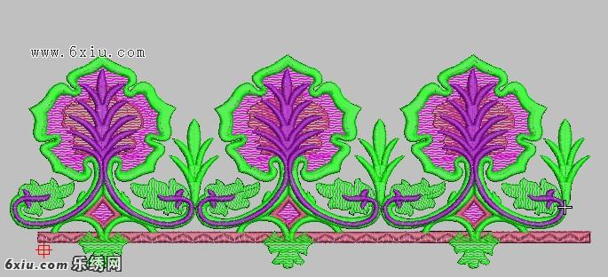 有规律的排列图案 刺绣下摆图案绣花花样版带下载 免费绣花图案 花样
