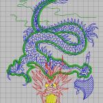 Dragon single needle embroidery pattern album
