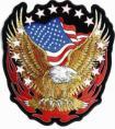 美国鹰国旗章仔