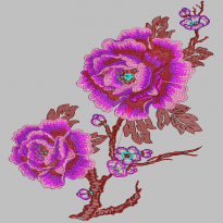 Peony Home Textile Perianth Flower embroidery pattern album