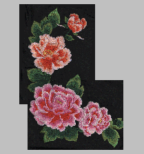 Chinese Style of Peony Flowers embroidery pattern album