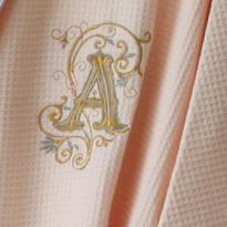 花-金银套版字母A