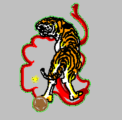 Tiger and Tiger Crafts embroidery pattern album
