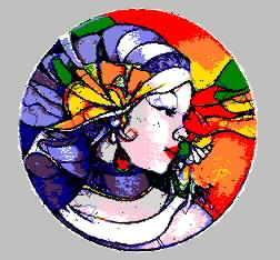 女人 美女 乱针绣精品 抽象