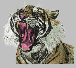 虎头-老虎-乱针绣精品