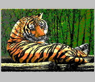 Tiger Crouching Tiger Chaotic Needle Embroidery embroidery pattern album