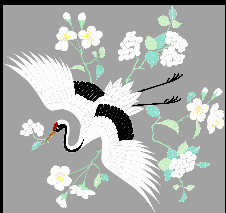 Crane, Crane, Picture and Auspicious Chiembroidery designs download