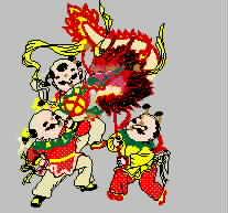 龙  童子舞龙  如意吉祥 春节 中国风 传统