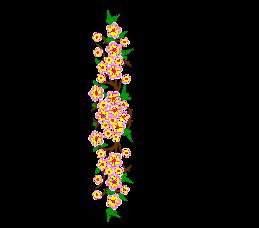 Peach blossoms Ten miles peach blossoms embroidery pattern album
