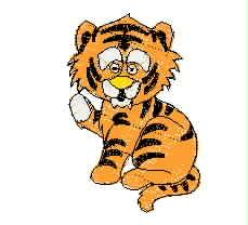 虎  卡通老虎幼兽 童