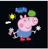 Pig Piggy Peppa Cartoon Children's Wearembroidery designs download