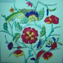 Bird back dress embroidery pattern album