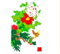 Beautiful flower, peony, national color, heavenly fragrance, bird boutique embroidery pattern album