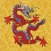 Dragon Nine Dragon Wall embroidery pattern album