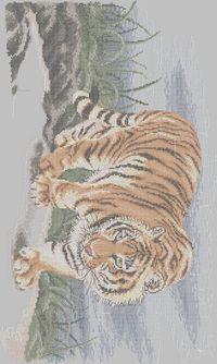 Tiger cross stitch tiger craft boutique embroidery pattern album