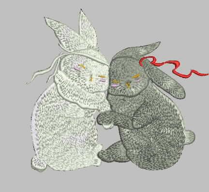 兔   小兔子 汉服绣花版带图片