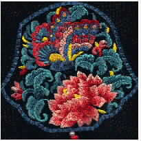 Pretty flower ethnic style embroidery pattern album