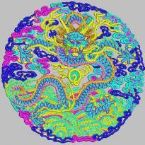 Dragon round dragon king embroidery pattern album