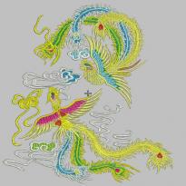 Phoenix double phoenix play cloud embroidery pattern album