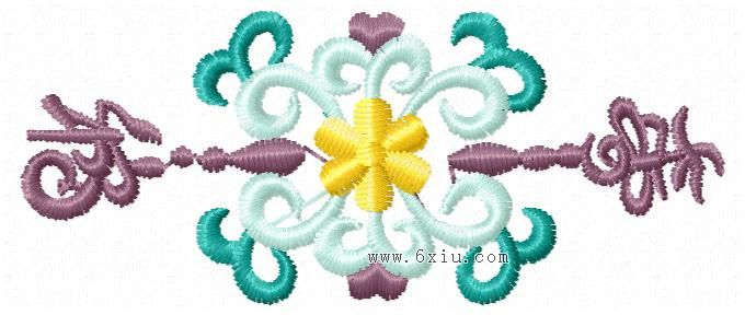 Auspicious abstraction embroidery pattern album