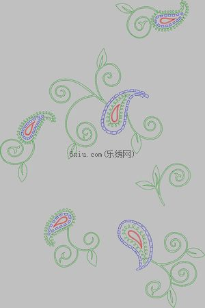 Auspicious and abstract embroidery pattern album
