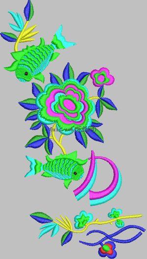 Goldfish embroidery pattern album