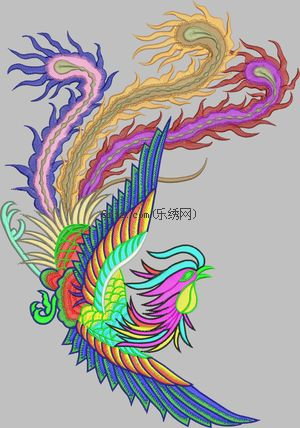 Phoenix embroidery pattern album