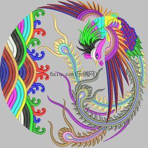Phoenix embroidery pattern album