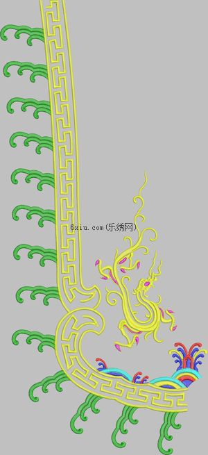 Loong embroidery pattern album