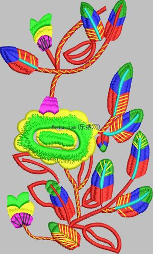 Beautiful flower embroidery pattern album