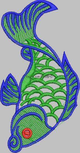 carp embroidery pattern album