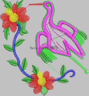 Little bird embroidery pattern album